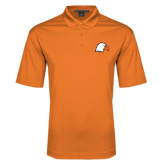 Orange Performance Fine Jacquard Polo-Eagle Head