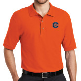 Orange Easycare Pique Polo-Official Logo