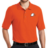 Orange Easycare Pique Polo-Eagle Head