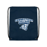 Navy Drawstring Backpack-Primary Mark