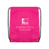 Pink Drawstring Backpack-Institutional Mark