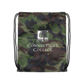 Camo Drawstring Backpack-Institutional Mark