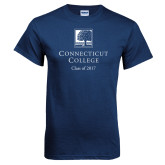 Navy T Shirt-Class of Personalized Year, Custom year in White