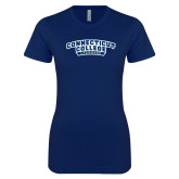 Next Level Ladies SoftStyle Junior Fitted Navy Tee-Lacrosse