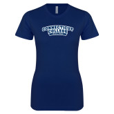 Next Level Ladies SoftStyle Junior Fitted Navy Tee-Sailing