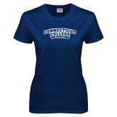 Ladies Navy T Shirt-Sailing