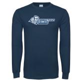 Navy Long Sleeve T Shirt-Primary Mark Flat