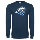 Navy Long Sleeve T Shirt-Camel with CC