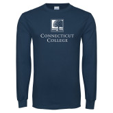 Navy Long Sleeve T Shirt-Institutional Mark