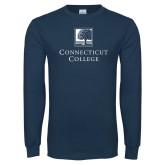 Navy Long Sleeve T Shirt-Institutional Mark