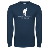 Navy Long Sleeve T Shirt-Vintage Camel Alumni