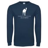 Navy Long Sleeve T Shirt-Vintage Camel Alumni
