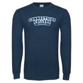 Navy Long Sleeve T Shirt-Sailing