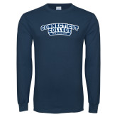 Navy Long Sleeve T Shirt-Swimming