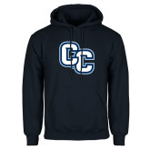 Navy Fleece Hoodie-Interlocking CC