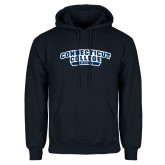 Navy Fleece Hoodie-Hockey