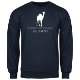 Navy Fleece Crew-Vintage Camel Alumni