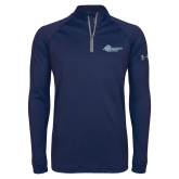 Under Armour Navy Tech 1/4 Zip Performance Shirt-Primary Mark Flat