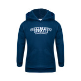 Youth Navy Fleece Hoodie-Lacrosse