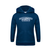 Youth Navy Fleece Hoodie-Hockey