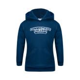 Youth Navy Fleece Hoodie-Hockey