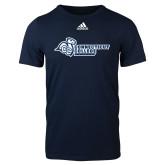 Adidas Navy Logo T Shirt-Primary Mark Flat