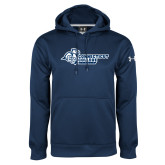 Under Armour Navy Performance Sweats Team Hoodie-Primary Mark Flat