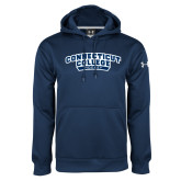 Under Armour Navy Performance Sweats Team Hoodie-Hockey