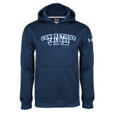 Under Armour Navy Performance Sweats Team Hoodie-Sailing