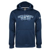 Under Armour Navy Performance Sweats Team Hoodie-Swimming