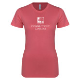 Next Level Ladies SoftStyle Junior Fitted Pink Tee-Institutional Mark