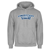 Grey Fleece Hoodie-Arched Connecticut College Camels