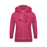 Youth Raspberry Fleece Hoodie-Camel with CC  Foil