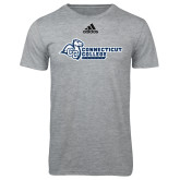 Adidas Sport Grey Logo T Shirt-Primary Mark Flat