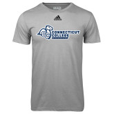 Adidas Climalite Sport Grey Ultimate Performance Tee-Primary Mark Flat