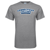 Grey T Shirt-Arched Connecticut College Camels