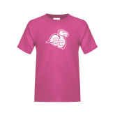 Youth Cyber Pink T Shirt-Camel with CC