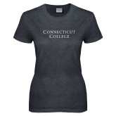 Ladies Dark Heather T Shirt-Connecticut College