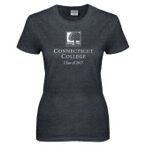 Ladies Dark Heather T Shirt-Class of Personalized Year, Custom year in White