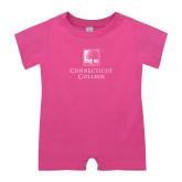 Bubble Gum Pink Infant Romper-Institutional Mark