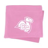 Pink Sweatshirt Blanket-Camel with CC