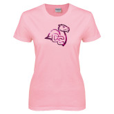 Ladies Pink T Shirt-Camel with CC  Foil