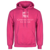Fuchsia Fleece Hoodie-Institutional Mark