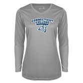 Ladies Syntrel Performance Platinum Longsleeve Shirt-Primary Mark