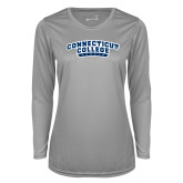 Ladies Syntrel Performance Platinum Longsleeve Shirt-Arched Connecticut College Camels