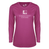 Ladies Syntrel Performance Raspberry Longsleeve Shirt-Institutional Mark