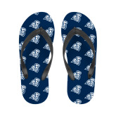 Ladies Full Color Flip Flops-Camel with CC