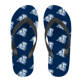 Full Color Flip Flops-Camel with CC