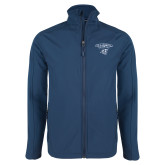 Navy Softshell Jacket-Primary Mark