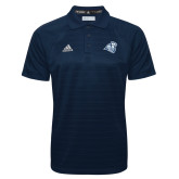 Adidas Climalite Navy Jacquard Select Polo-Camel with CC